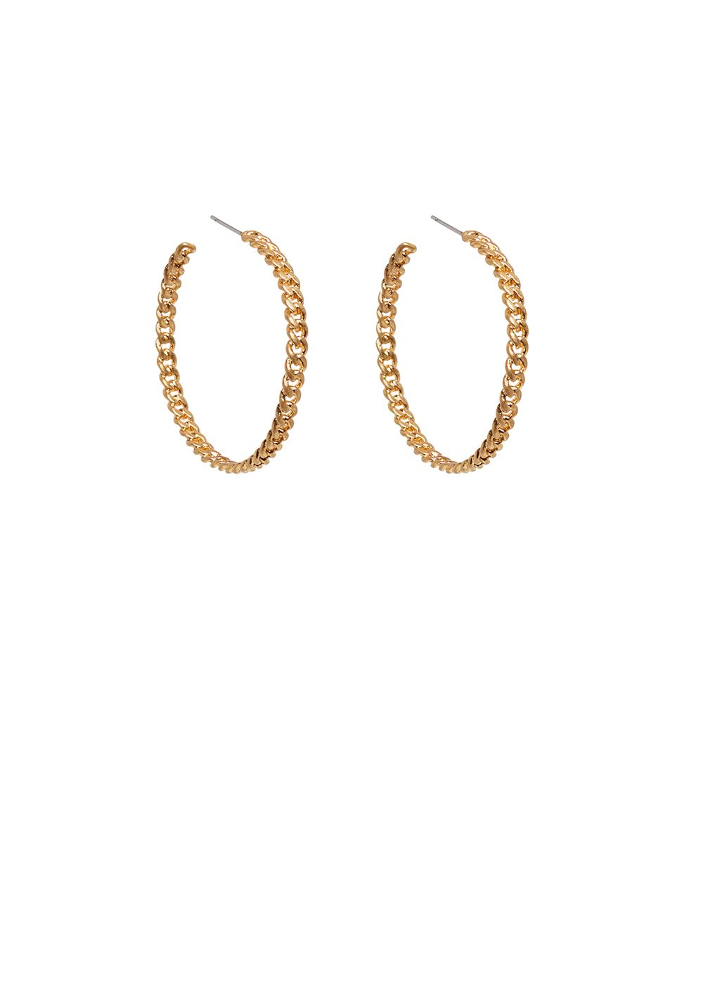 ANTO LARGE GOLD CHAIN EARRINGS