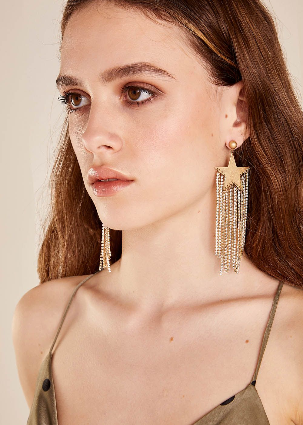 CONCITA EARRINGS WITH STARS AND RHINESTONES
