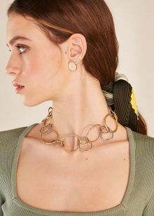 ATENA GOLD AND SILVER NECKLACE