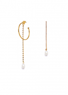 NATALINA ASYMMETRIC EARRINGS WITH PEARL