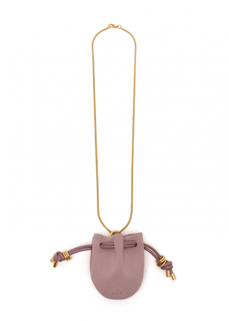 NIKOL NECKLACE WITH PINK MICRO BAG