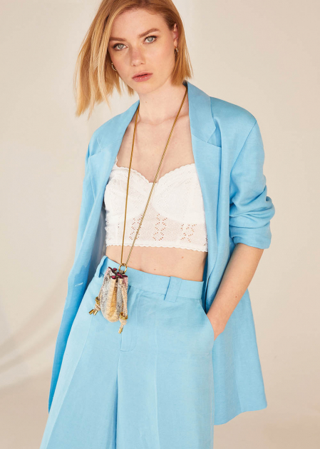 NATALY NECKLACE WITH BROWN PYTHON MICRO BAG