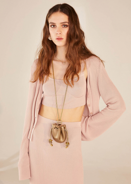 NATANH NECKLACE WITH GOLD MICRO BAG