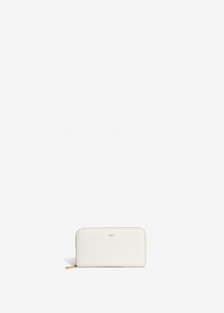 WHITE CROC-EFFECT WALLET