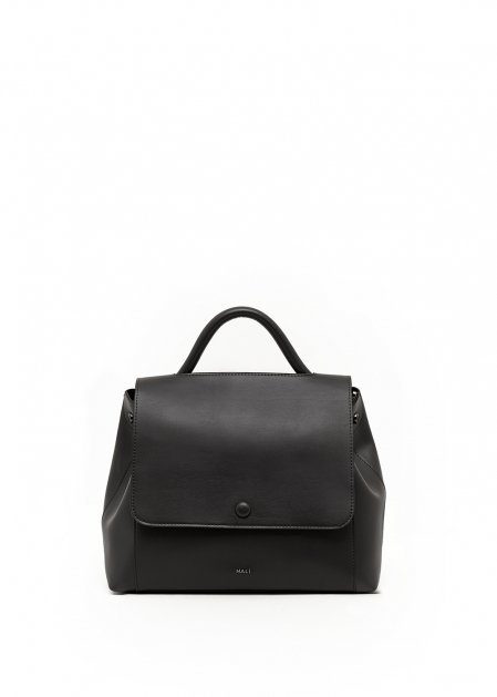 BLACK HANDBAG WITH CLOSING BUTTON