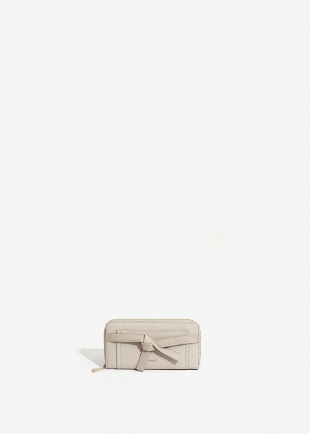 BEIGE WALLET WITH KNOT DETAIL