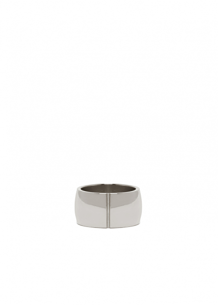 RAYA DOUBLE RIGID RING IN SILVER  STAINLESS STEEL