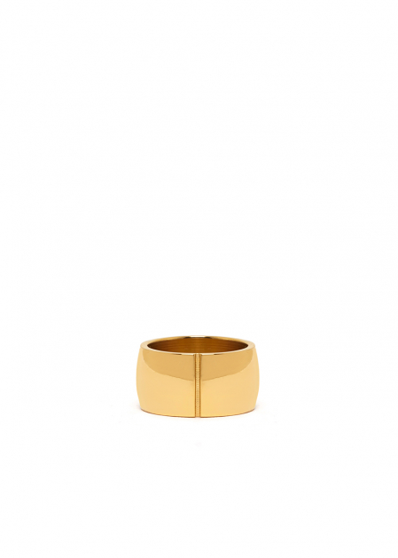 RAYA DOUBLE RIGID RING IN GOLD  STAINLESS STEEL