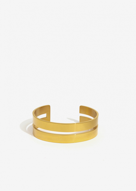 GOLD DOUBLE BAND CUFF