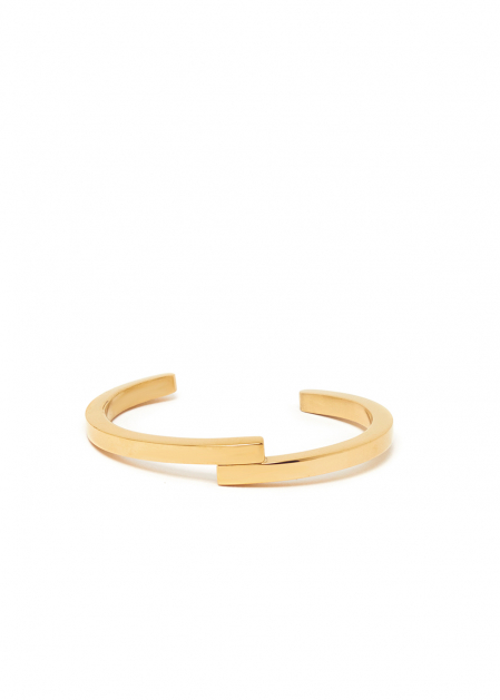 JANIS CUFF IN GOLD  STAINLESS STEEL
