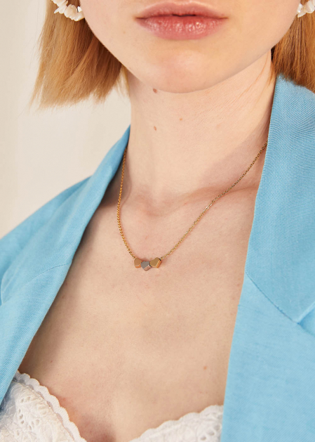 ANNA NECKLACE WITH STAINLESS STEEL HEARTS