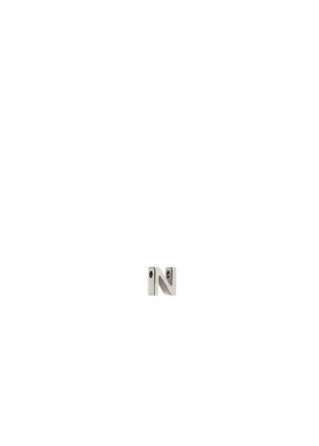 CHARM LETTER N SILVER
