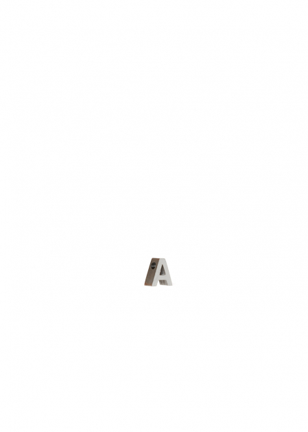 CHARM LETTER A SILVER