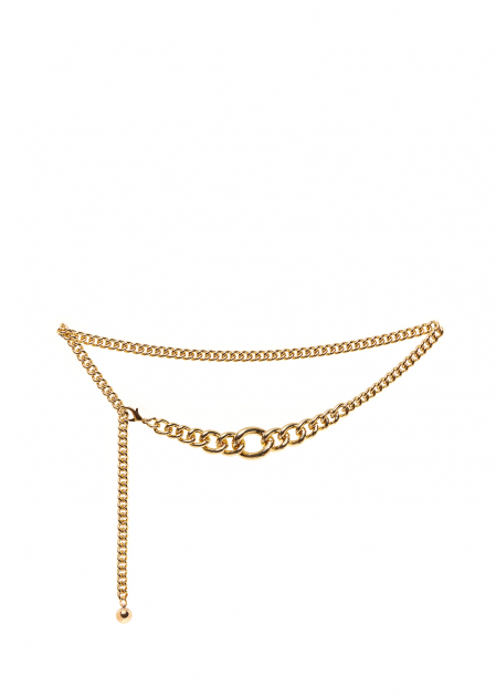 GOLD BELT WITH LARGE CHAIN RINGS