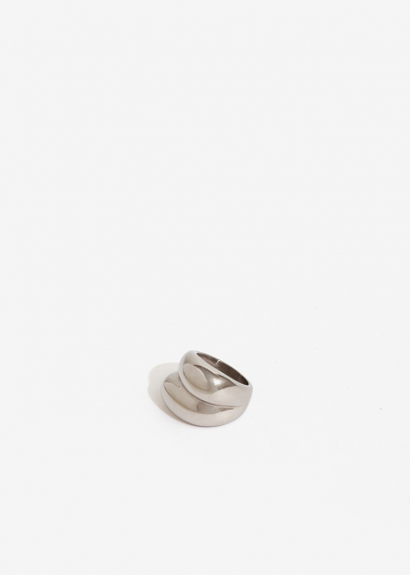 SILVER ROUNDED OVERSIZE RING