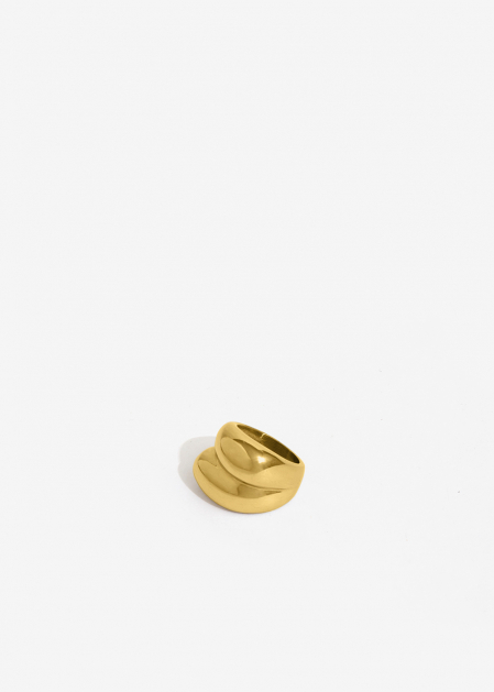 GOLD ROUNDED OVERSIZE RING