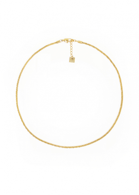 GOLD KNURLED NECKLACE