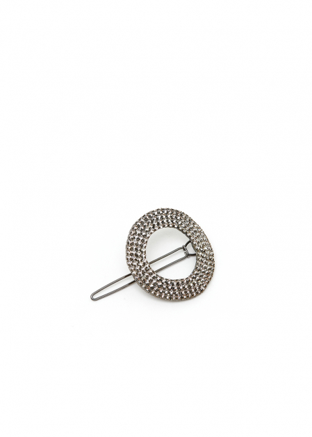 ROUND HAIRCLIP WITH CRYSTALS