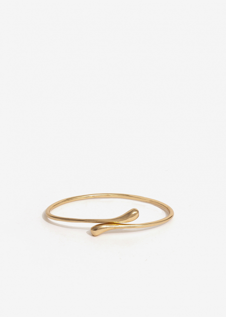 GOLD CUFF WITH DROP