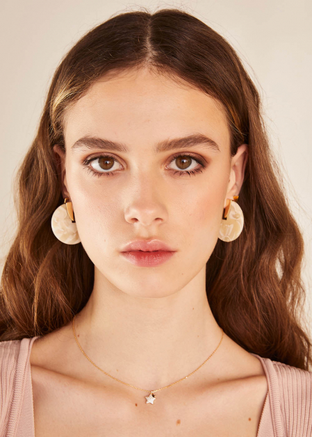 WHITE ELIS EARRINGS
