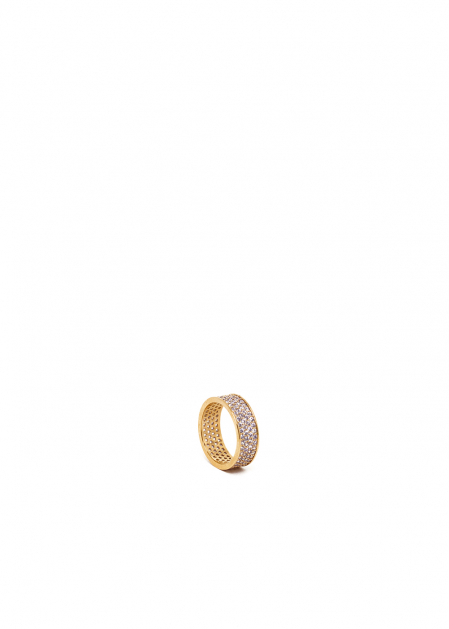ELIANA 14KT GOLD PLATED RING WITH CRYSTALS
