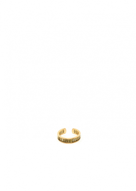POLLY GRAY 14KT GOLD PLATED RING