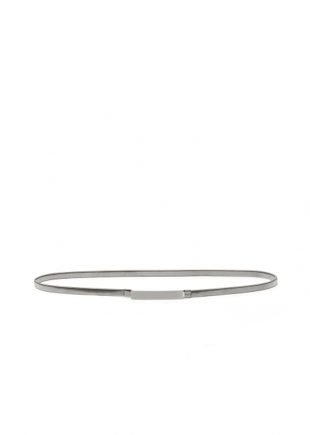 ANGELA BELT WITH RECTANGULAR BUCKLE IN SILVER
