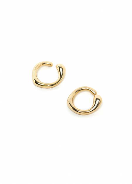 ROUNDED GOLD EARCUFF