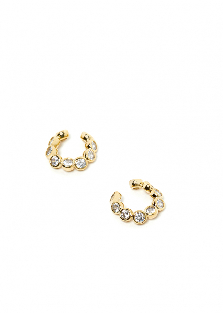 GOLD EARCUFF WITH CRYSTALS
