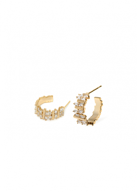 ANAIS 14K GOLD PLATED EARRINGS W/ CRYSTALS