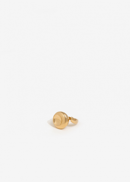 ROUNDED GOLD RING