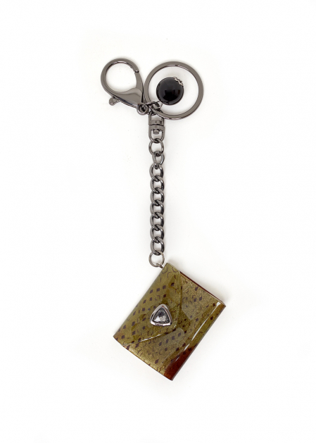 CAROL GREEN KEYCHAIN WITH POUCH