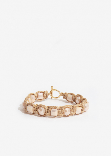 BRACELET WITH IVORY CRYSTALS