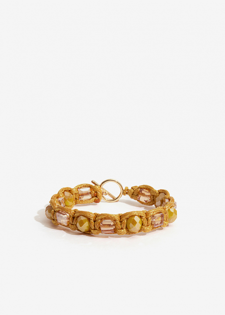 BRACELET WITH MUSTARD CRYSTALS