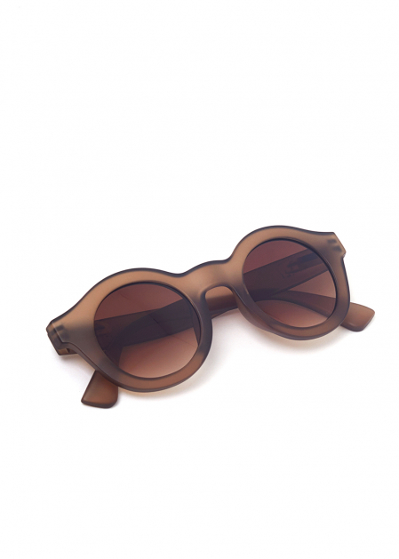 PINA ROUND-SHAPED SUNGLASSES IN TAUPE