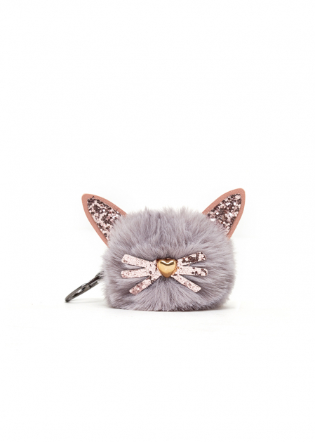 DELIA KEYCHAIN WITH PLUSH CAT