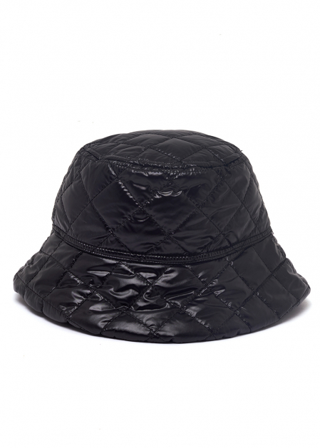 QUILTED FISHERMAN'S HAT IN BLACK