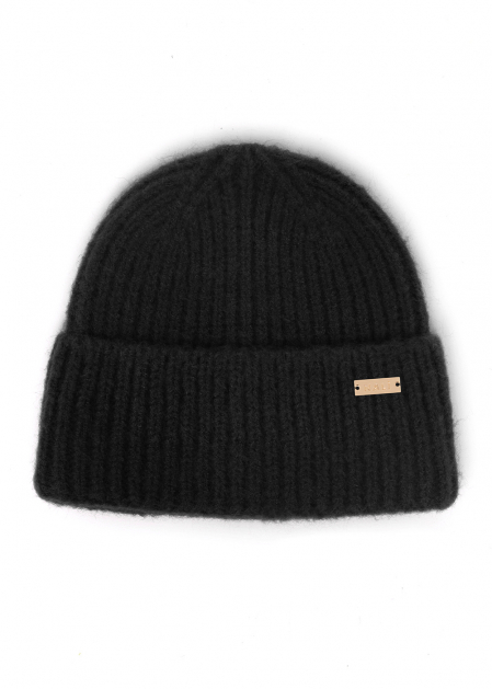 PAM RIBBED HAT IN BLACK