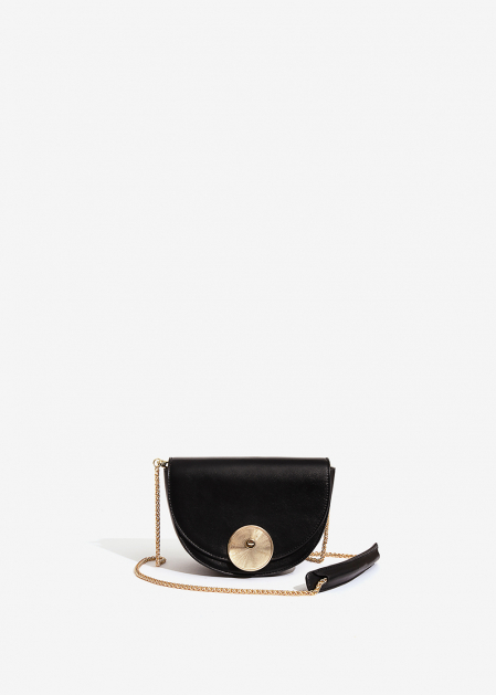 BLACK HALF-MOON BAG