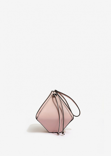 LIGHT PINK RHOMBUS-SHAPED HANDBAG