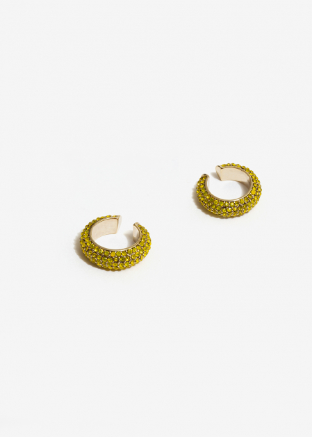 YELLOW CRYSTALS EARCUFFS
