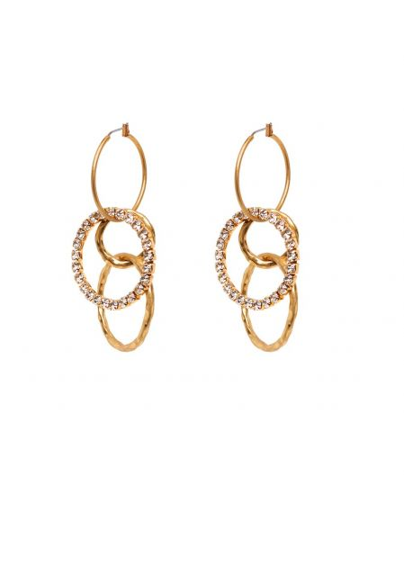 CASSANDRA HOOP AND RHINESTONES EARRINGS