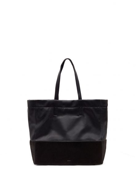BAG WITH BLACK SUEDE EFFECT BOTTOM