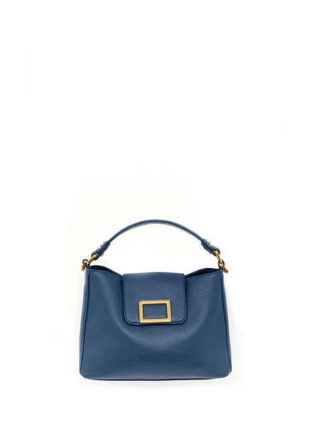 BLUE HANDBAG WITH STUDS
