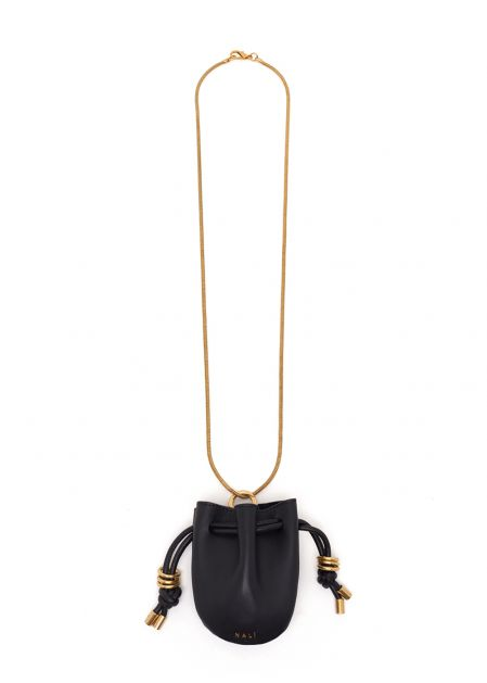 NATANH NECKLACE WITH BLACK MICRO BAG