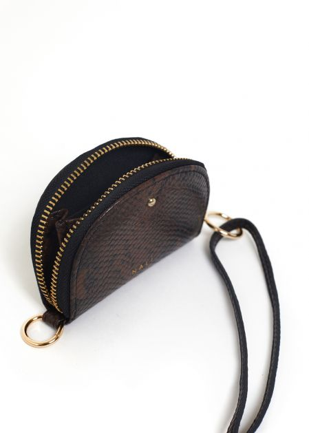 DARCY COIN PURSE PYTON PRINT IN BROWN