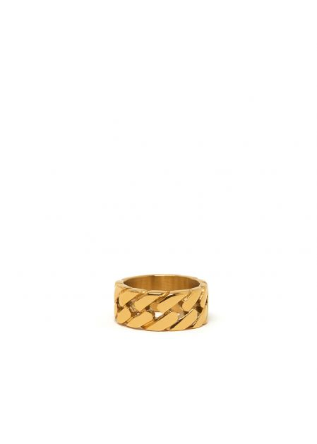 JACKIE BRAIDED RING IN GOLD  STAINLESS STEEL