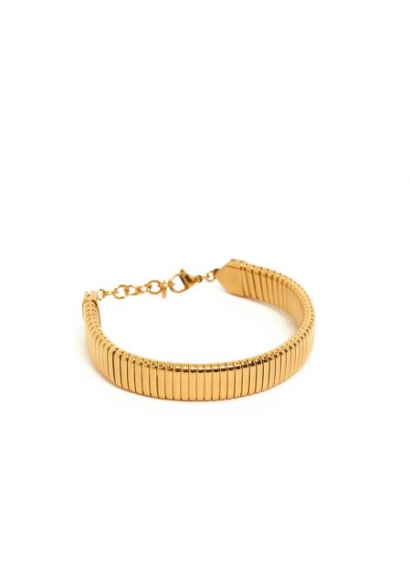 ANNINA FLAT BRACELET IN GOLD STAINLESS STEEL