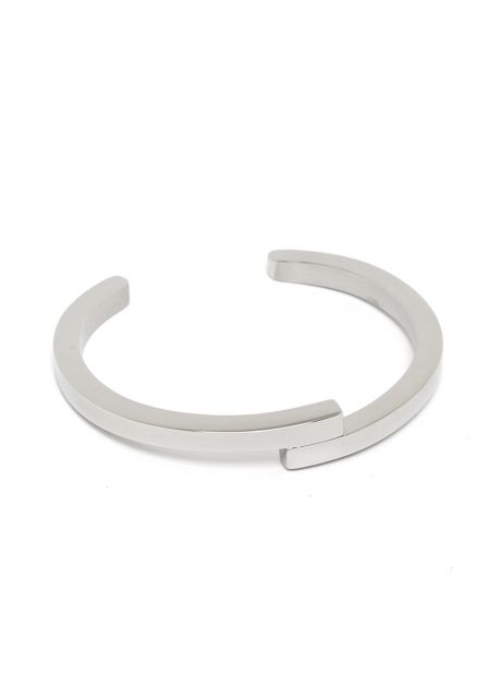 JANIS CUFF IN SILVER  STAINLESS STEEL