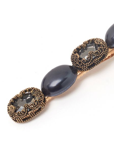 ELLE HAIRCLIP WITH GREY PEARLS